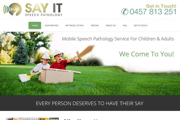 Say It Speech Pathology