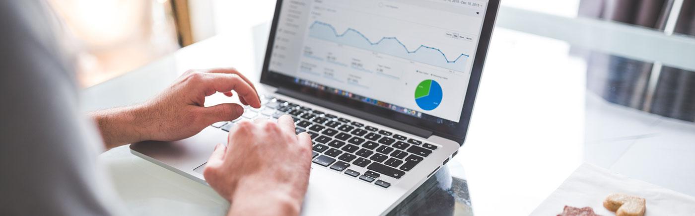 NZ web hosting laptop graph