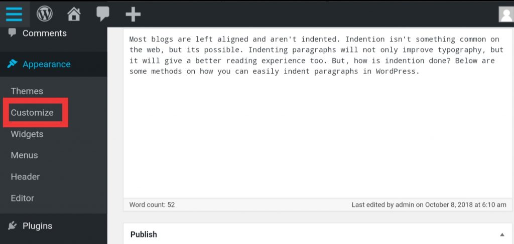 CSS code when indenting few paragraphs
