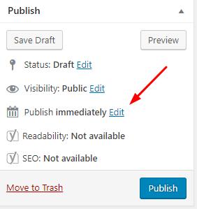 Backdate post in WordPress