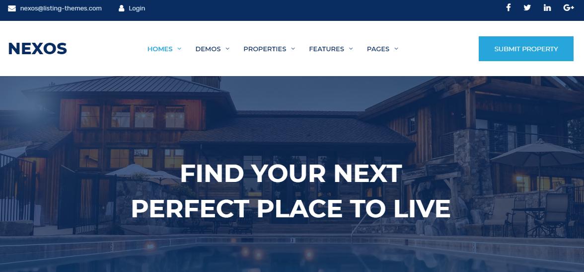 Nexos Real Estate WordPress Theme