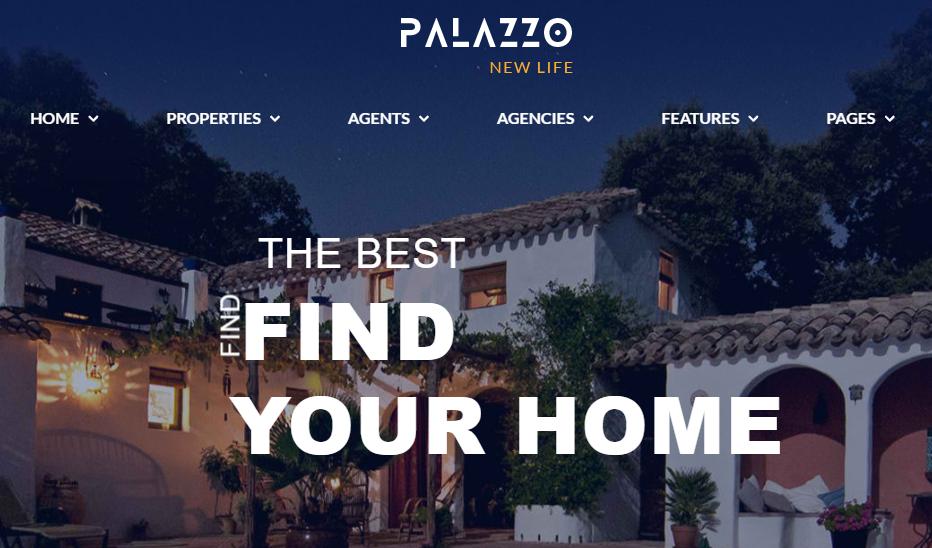 Palazzo Real Estate WordPress Theme