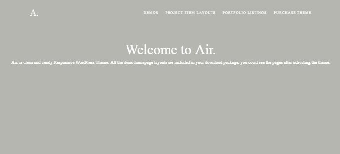 Air Portfolio WP Theme