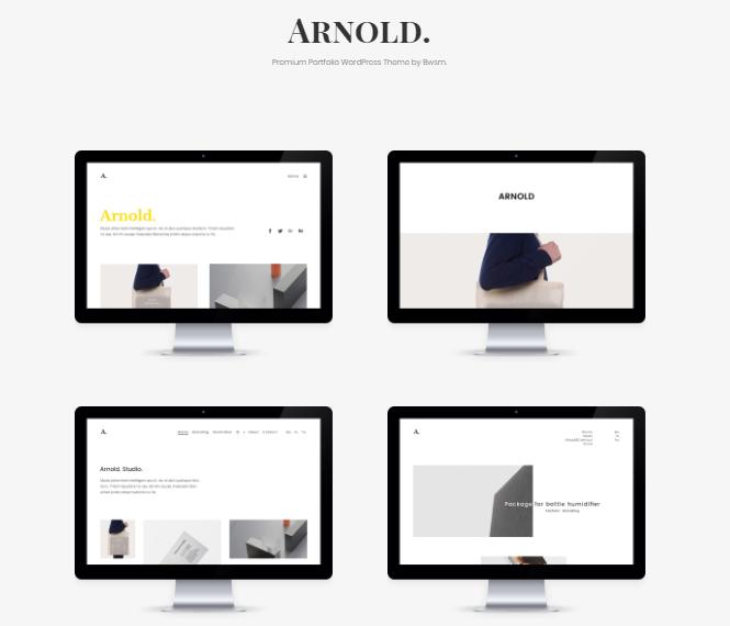 Arnold Portfolio WordPress Theme