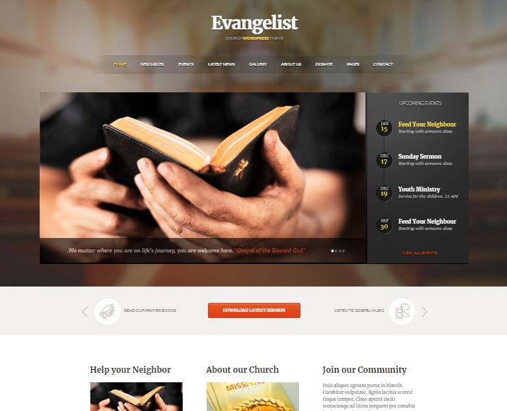 Evangelist Church WP Theme