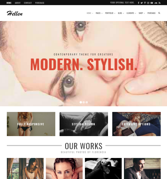 Hellen Minimalist WordPress Theme
