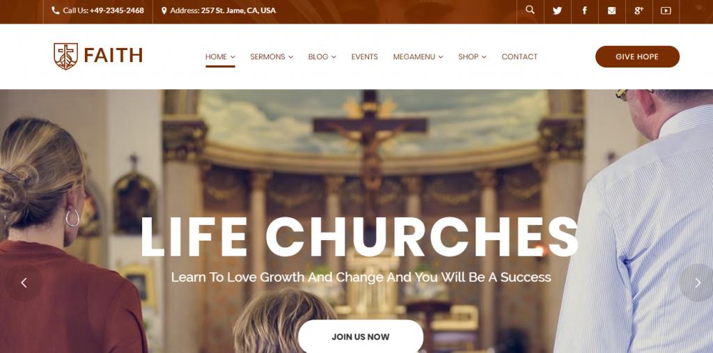 Life Churches WordPress Theme