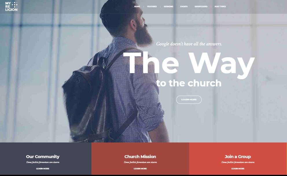 My Religion Church WordPress Theme