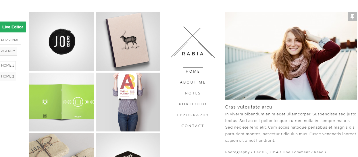 Rabia WordPress Theme