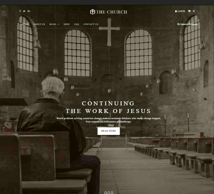 The Church WordPress Theme