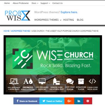 Wise Church WP Theme