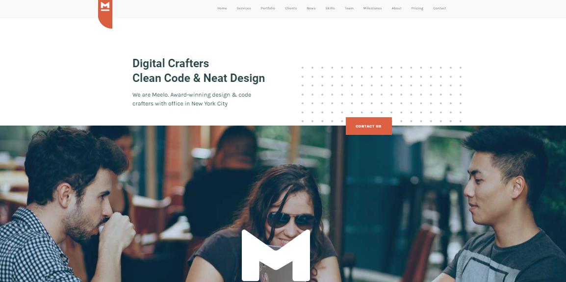 Meelo One Page WordPress Theme