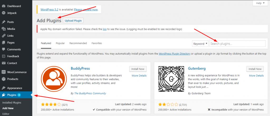 WordPress Plugins Add New