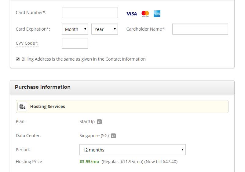 Siteground purchase information