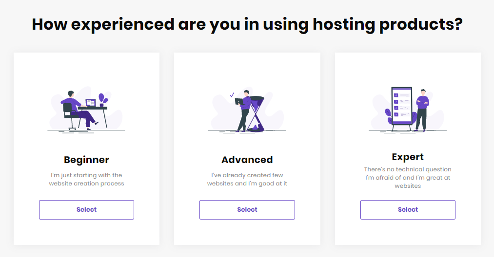 Setup Quiz - hosting level