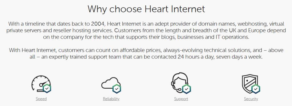 Heart Internet Features